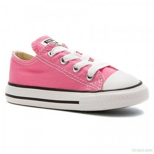 Girl/'s Toddler Converse Chuck Taylor All Star Low Top 7J238 Color Pink Brand New