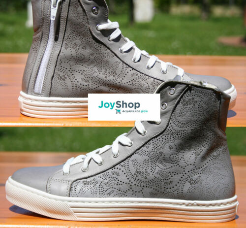 A Mano Sneakers Laser Vera Donna Firenze Fatte Scarpe Incisione Alte Pelle Di SgxqvOFw