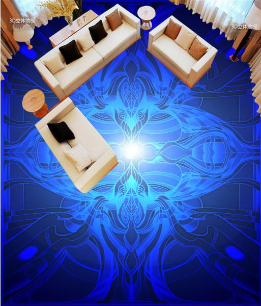 3D Blau Light Floral 728 Floor WallPaper Murals Wall Print Decal AJ WALLPAPER US