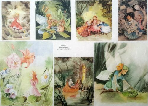Sheet Craft Fairy Around Rice Paper for Decoupage Scrapbooking