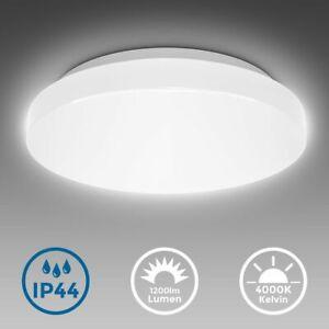 Led Deckenleuchte Bad Rund Badezimmer Lampe Flach Ip44 Schlafzimmer Kuche Flur Ebay