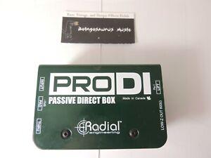 Radial Engineering PRO D.I. Passive Direct Box DI Free USA Shipping