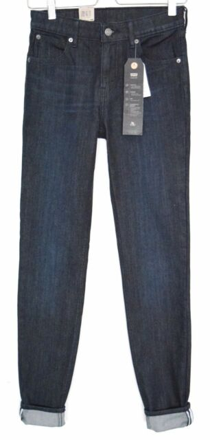 NEW Levis 721 High Rise SKINNY COMMUTER Dark Blue Indigo Jeans Size 6 W25 L32