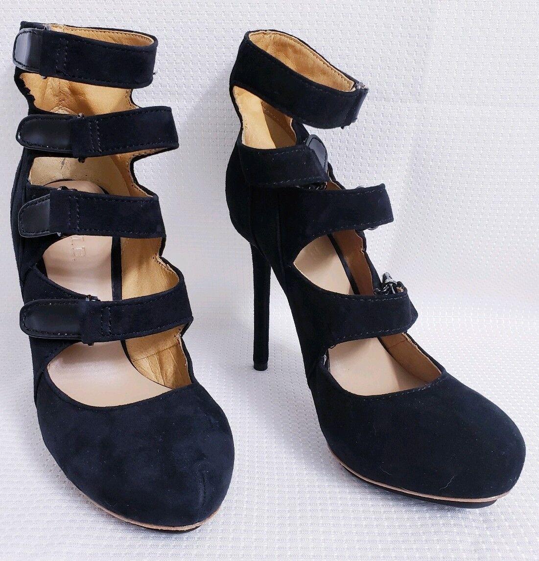 Prezzo al piano L.A.M.B. LAMB Giorgio avvioIES nero Stiletto Strappy Heels sz 8 8 8 M  325  conveniente