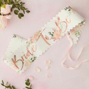 Rose-Gold-Floral-Bride-To-Be-Sash-Pink-Hen-Party-Decorations-Blush-Bachelorette