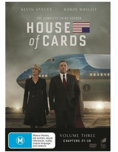 1 of 1 - House of Cards - Season 3 (DVD, 4 Disc Set) NEW R4 Series
