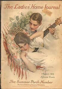 AUG 1913 LADIES HOME JOURNAL womans fashion magazine - HARRISON FISHER