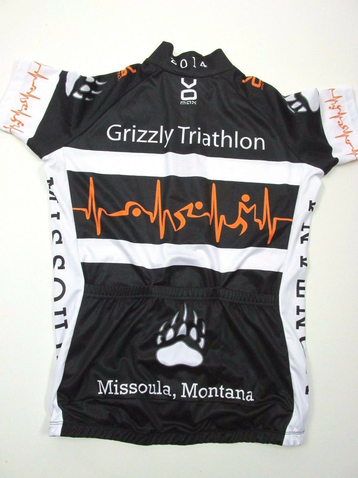 VOmax Grizzly Triathlon Missoula Montana 2014 Cycling Jersey Wouomo Smtutti MB32