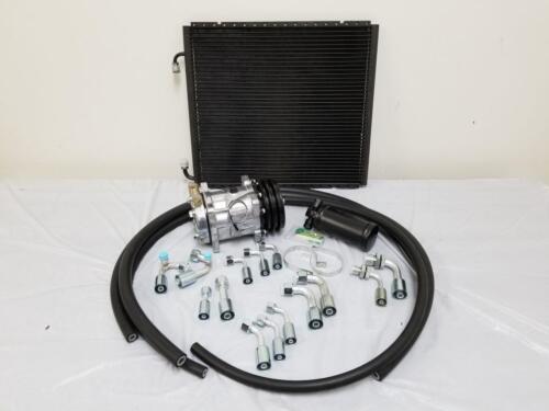 Plain Compressor /& Condenser Universal 134a Air Conditioning AC Hose Drier Kit