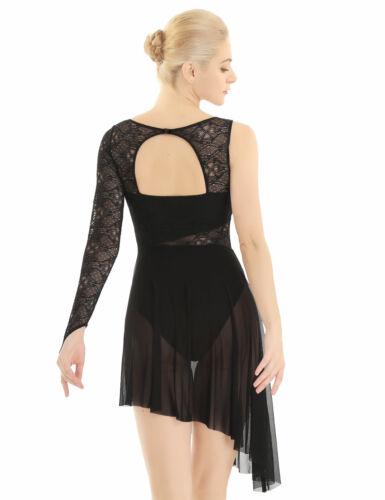 Women/'s Lyrical Leotard Skirt Dress Contemporary Leotard Ballet Dance Costumes