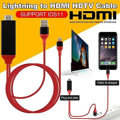 Lightning 8P AV Cable Adapter Dock to HDMI VGA Audio Video HDTV For iPad iPhone