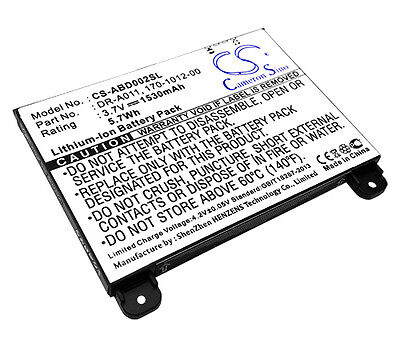 1530mAh Battery for Amazon Kindle 2 S11S01A; DR-A011 Kindle DX USA Seller