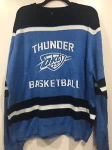 sports shoes 6d582 88810 Details about Oklahoma City Thunder NBA Glow in the Dark Men's Ugly  Christmas Sweater 2XL