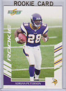 Details About ADRIAN PETERSON Score 2007 RC Minnesota Vikings Football 28 ROOKIE CARD