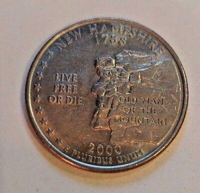 NEW HAMSHIRE State Quarter BRILLIANT UNCIRCULATED Philadelphia Mint 2000