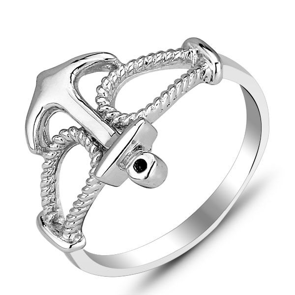 Geniune 925 Silver Designer Rings Anchor Twisted Rope Ring Band Birthday Gifts