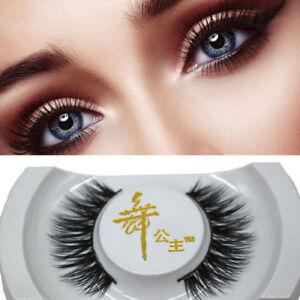 bd10be3ee2d Black 3D Real Mink Soft Long Natural Thick Makeup Eye Lashes False ...
