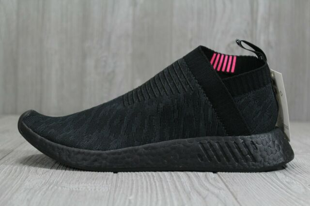 Adidas Originals NMD CS 2 PK Black Boost City Sock Pink Slip On CQ2373 SIZE 4