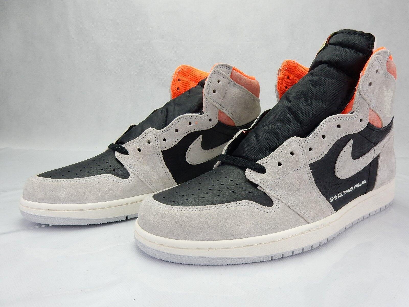 Nike Air Jordan 1 Neutral Grey Hyper Crimson Black 555088 018 Size 14 Sneakers S