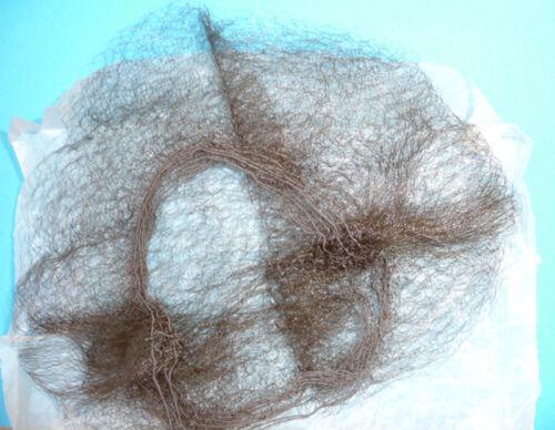 VINTAGE 1940s 8 Marrone Super Sottili le retine per capelli - 8 di essi-inutilizzato vecchio negozio STOCK