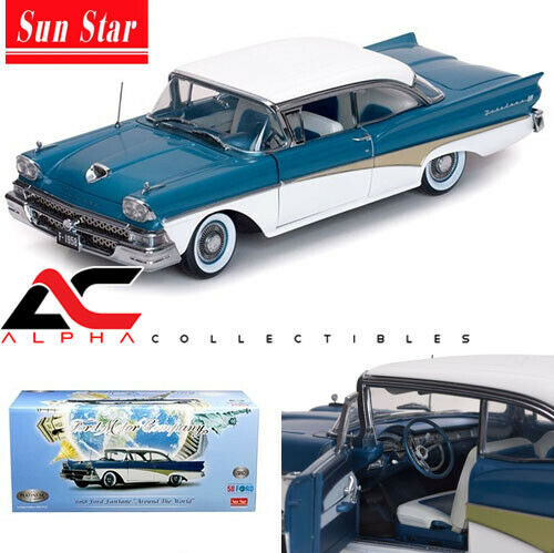 SUNSTAR SS-5283 1 18 1958 FORD FAIRLANE 500  THE CAR THAT WENT AROUND WORLD