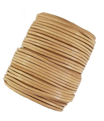 Cordón de cuero beige encaje cuadrado de 3 mm vendidos en longitudes de 2,3,4,5,10 metros,