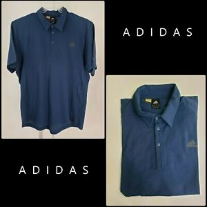 Adidas-Men-Short-Sleeve-Golf-Polo-Shirt-Blue-Size-Extra-Large-XL