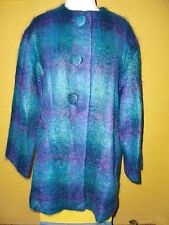 """""""NANCY HELLER""""Multi Colors Mohair/Wool/Nylon Lined Button Down Jacket  Size 8."""