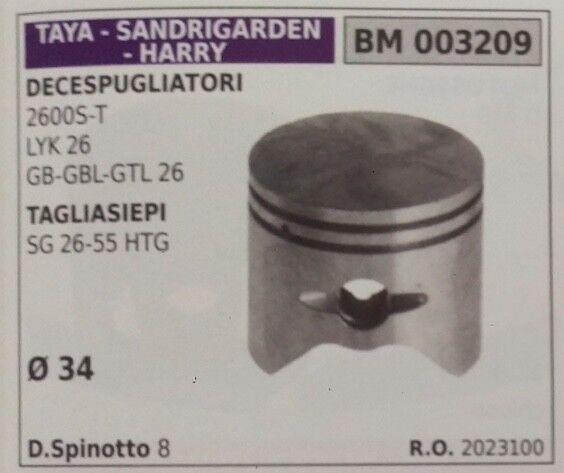 2023100 PISTONE COMPLETO DECESPUGLIATORE TAYA SANDRIGARDEN HARRY 2600 S T Ø34
