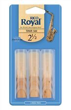 Royal by D'Addario Tenor Sax Saxophone Reeds #2.5 strength (3-pack) rkb0325
