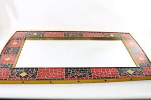 Grand ancien ddr miroir mosa que miroir mosa que culte r tro design ebay for Miroir mosaique design