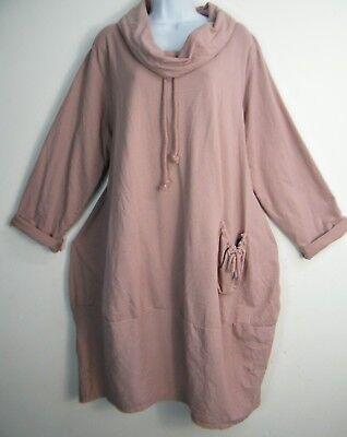 LAGENLOOK 95/%COTTON ITALIAN WINTER WEIGHT DRESS 10 COLOURS ONESIZE:REGULAR 12-16
