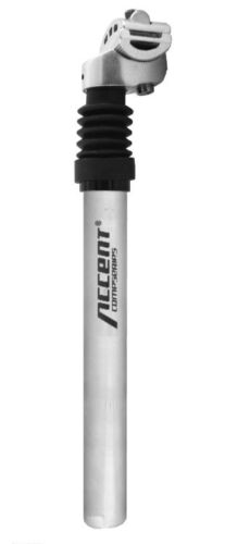 350mm 31.6mm ACCENT SP-886 Suspension Seatpost 25.4mm Black or Silver