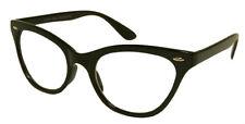 BLACK CAT EYE Frames Clear Lens Glasses Geek Nerd Vintage Retro Style #RF1167