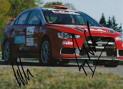 Guy Wilks and Phil Pugh Hand Signed Mitsubishi Photo 7x5.