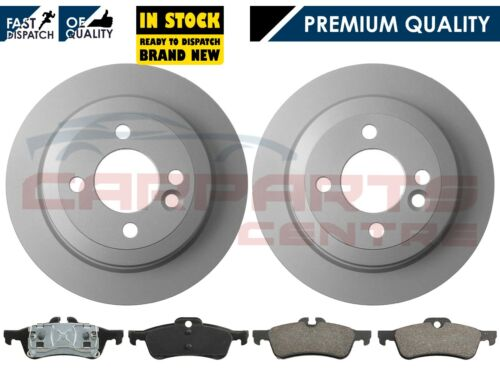 FOR MINI R50 R53 ONE 01-06 COOPER COOPER S WORKS ONE D REAR 2 BRAKE DISCS /& PADS