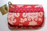 Contents By Allegro Pink & Orange Print 3-pc Makeup Bag Cosmetic Bag Set -
