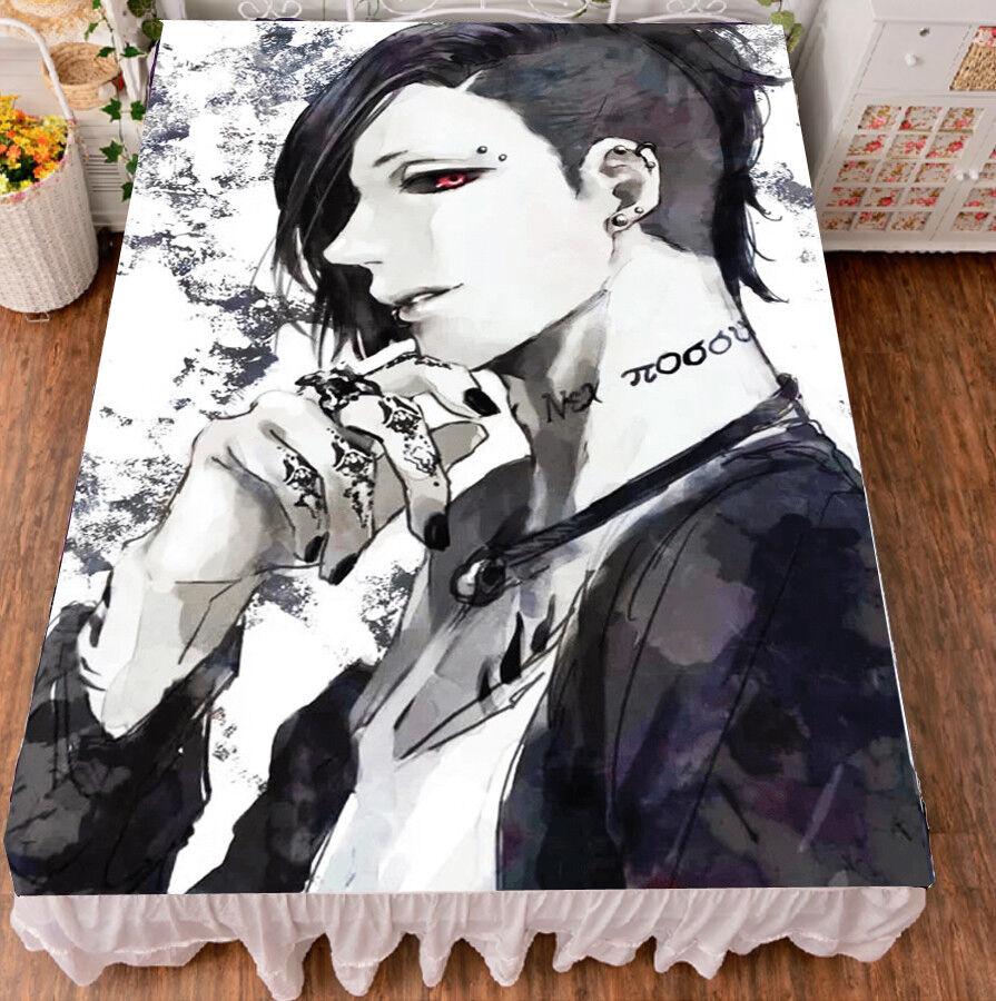 Anime Tokyo Ghoul Flano Micro Fiber Blanket Bedsheet Bedding 150200cm