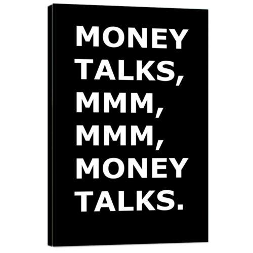 Money Talks Motivational Wall Art Entrepreneur Inspirational Quotes Poster Print