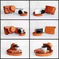 Pu Leather Camera Case Bag For Samsung Nx Mini Digital Camera 9-27mm Lens
