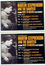 3 X MARTIN STEPHENSON AND THE DAINTEES FLYER POSTCARDS  - BOAT TO BOLIVIA