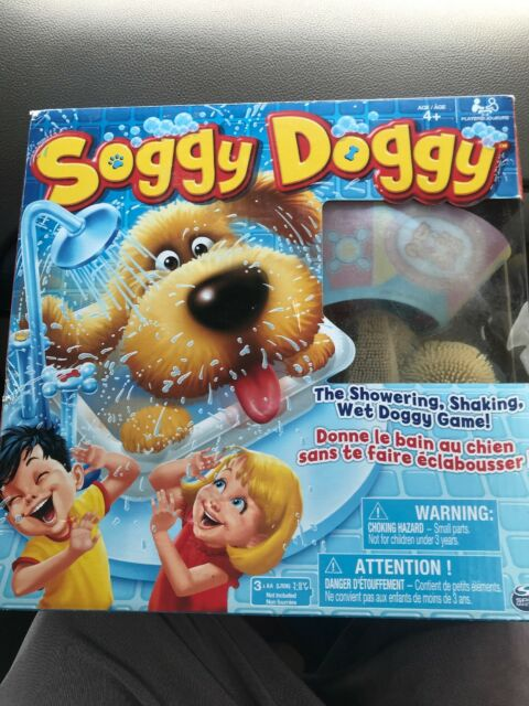 Soggy Doggy Board Game -  Wet Doggy Game Opened Crushed Box - Have All Parts