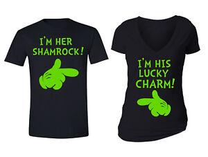 498c3dd13 St. Patrick's Day Couples Matching Charm Shamrock Clover Irish T ...