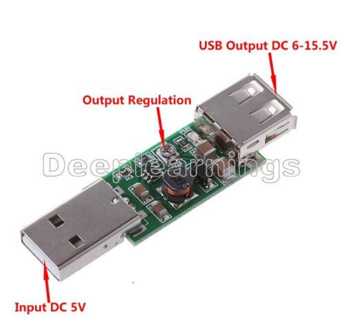 USB DC-DC 5V to 6-15V Step-Up Boost Converter Voltage Inverter Module Adjustable