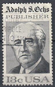 Estados unidos sello con sello 13c adolph s. ochs Publisher/6