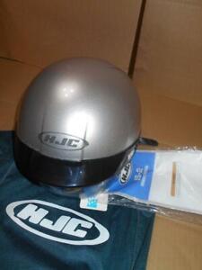 3763957f HJC IS-2 Silver Helmet with Inner Sun Shield Visor DOT ~   eBay