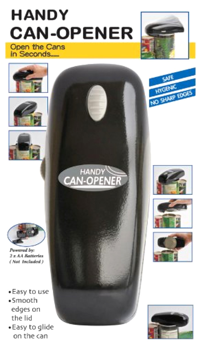 Portable Handy Can Opener Automatic One Touch Electric Batte