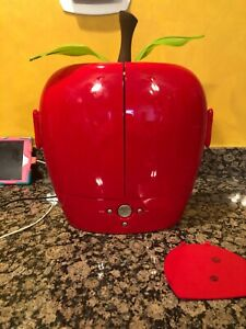 "Hannspree Red Apple 10"" LCD TV T091 - Very Rare Never Used. EUC! No Remote"