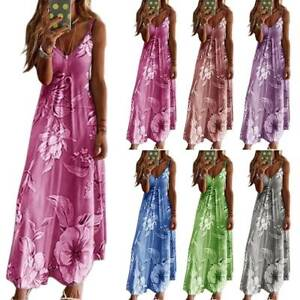 Womens-Slim-Long-Floral-Printed-Sleeveless-Sling-Casual-Swing-Party-Maxi-Dress