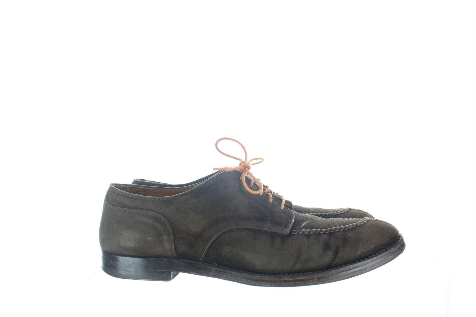 ALDEN Braun Suede-Kleid-Schuhe, UK 10 US 11 EU 43